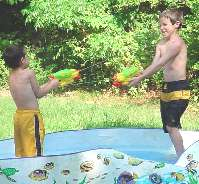 water gun fight!